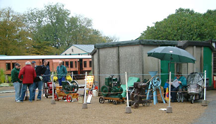 Stationary engines at Horsted Keynes - David Chappell - 21 October 2012