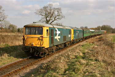 73207 and 73119 on the Blue Belle Special - Steve Lee - 28 March 2013