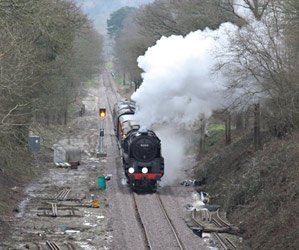 9F on its way to East Grinstead - Steve Lee - 16 March 2013