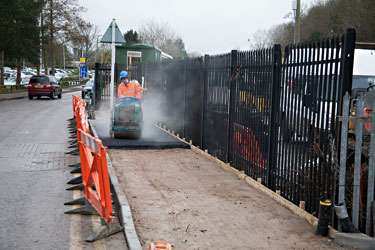 New path being laid at East Grinstead - John Sandys - 15 March 2013