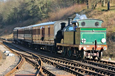 H-class arriving at Horsted Keynes - Steve Lee - 1 January 2013