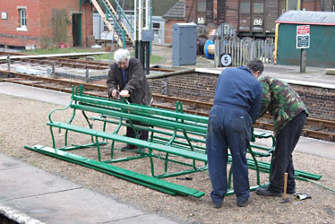 Seat construction at Horsted Keynes - Richard Salmon - 9 March 2013