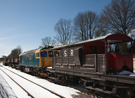 Queen Mary brakevan at East Grinstead - John Sandys - 12 March 2013