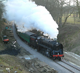 9F on 5.30pm from Sheffield Park - David Chappell - 31 March 2013