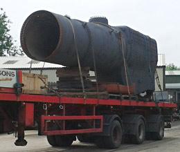 Camelot's boiler departs for overhaul - Tony Hillman