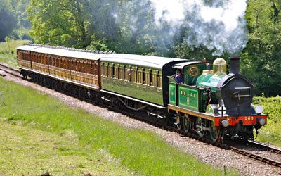 H-class with train at Holywell - Steve Lee - 2 June 2013