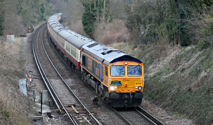 66739 heads the returning railtour at Sanderstead - Nathan Gibson - 28 March 2013