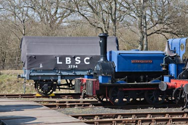 Sharpthorn and LBSCR Wagon at Horsted - John Sandys - 2 April 2013