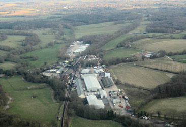 Aerial photo of Sheffield Park Station - Chris Berryman - 29 March 2013