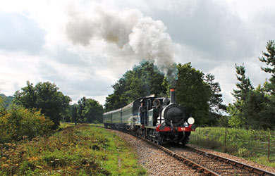 55 and 323 at Horsted House Farm crossing - Nathan Gibson - 15 Sept 2013