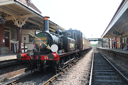 Stepney at the head of the Golden Arrow at Sheffield Park - Nathan Gibson - 14 July 2013