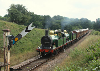 SECR H and C class locomotives with the vintage set - Phil Horscroft - 8 Aug 2013