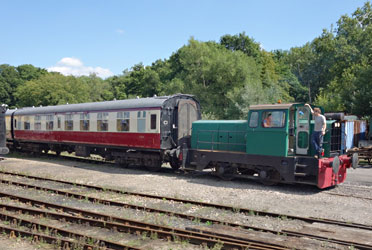 Skippy shunting in the carriage yard at Horsted Keynes - Brian Lacey - 27 Aug 2013