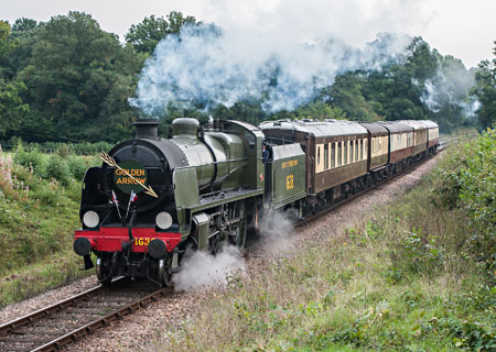 U-class with lunch train at Holywell - Chris Rigby - 29 September 2013