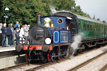 Bluebell with Autumn Tints train at East Grinstead - Brian Lacey - 2 Oct 2013