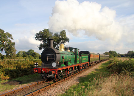 592 with the 4pm from Sheffield Park - David King - 12 October 2013