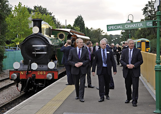 The Duke after leaving the train at East Grinstead - Derek Hayward - 10 October 2013