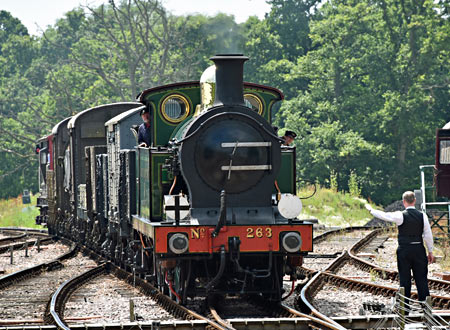 263 with goods train - Brian Lacey - 23 July 2016