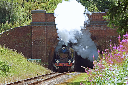 S15 No.847 bursting out of the tunnel - Brian Lacey - 1 August 2017