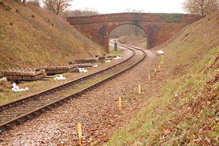 Next section to be relaid, north from Caseford Bridge - Jon Goff - 25 January 2019