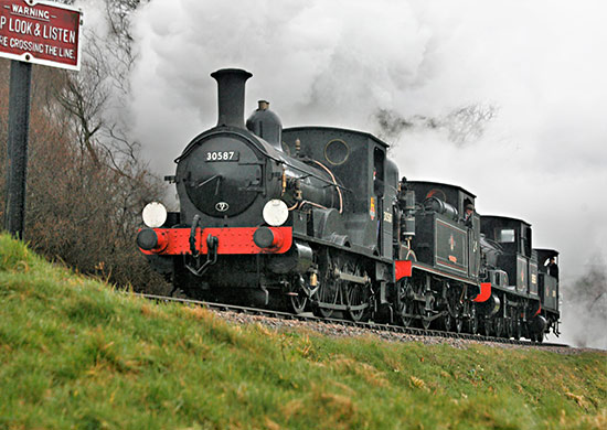 The Beattie Well Tank leads the four-loco cavalcade - Julian Clark - 15 March 2019