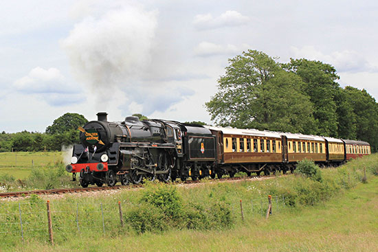 Camelot climbing Freshfield bank with the Golden Arrow - Peter Edwards - 9 June 2019