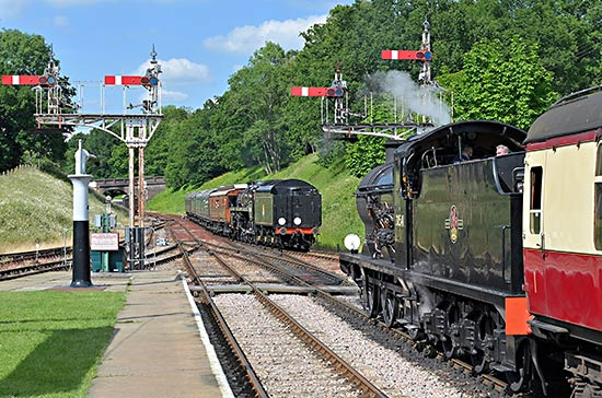 Q and 'Camelot' pass at Horsted Keynes - Brian Lacey - 22 June 2019