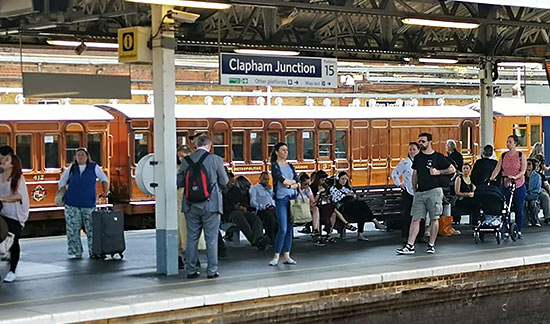 Metropolitan Carriages at Clapham Junction - Clive Emsley - 27 June 2019
