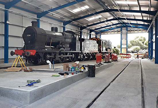 30541 in the new maintenance shed at Sheffield Park - Jon Elphick - 12 May 2019