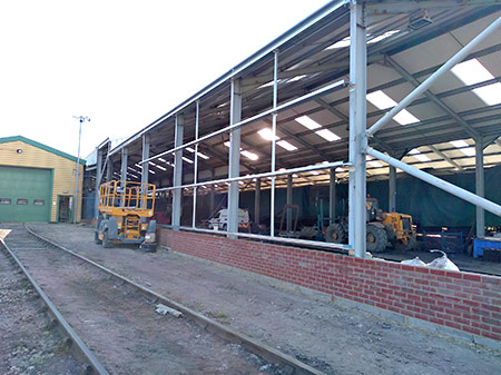 Support rails for the cladding going on the west wall of thge new shed - Barry Luck - 16 May 2019