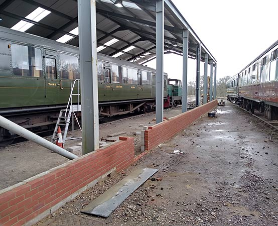 Stub wall on western side of OP4 shed - Barry Luck - 4 April 2019