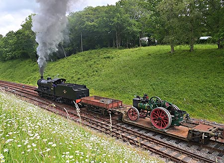 Q departs with its goods train from Horsted Keynes - Brian Lacey - 15 June 2019