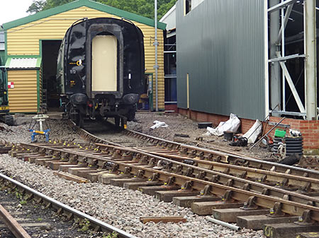 New track laid into the paint shop at Horsted Keynes - Stuart Moon - 25 June 2019