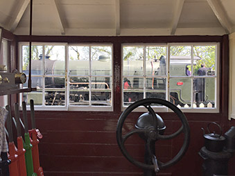 Inside Withyham signal box in the Muesum at Sheffield Park - Steve Goodbody - 15 May 2019