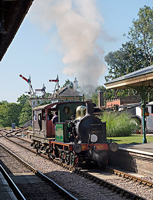 178 with brake van at Horsted Keynes - Brian Lacey - 14 September 2019