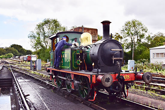 178 being steamed, and cleaned, on shed - John Sandys - 12 September 2019