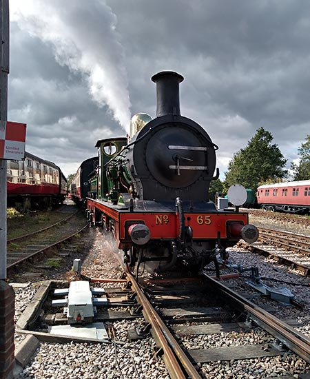 65 in the entrance to the Down Yard at Horsted - Huw Lloyd - 5 September 2019