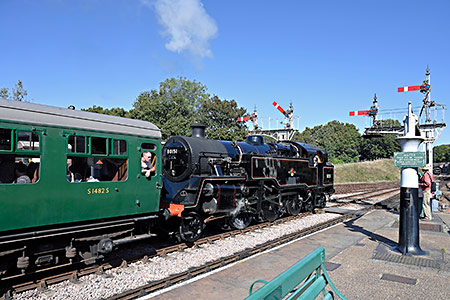 80151 and Bulleid carriage - Brian Lacey - 21 September 2019