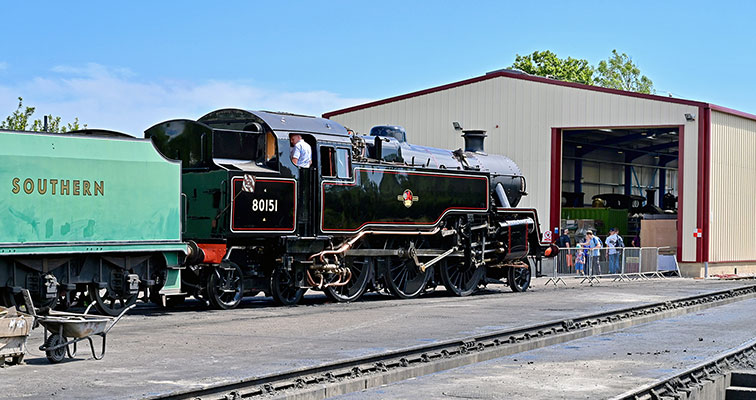 80151 on display, with the new Loco Maintenance shed behind - Brian Lacey - 30 June 2019