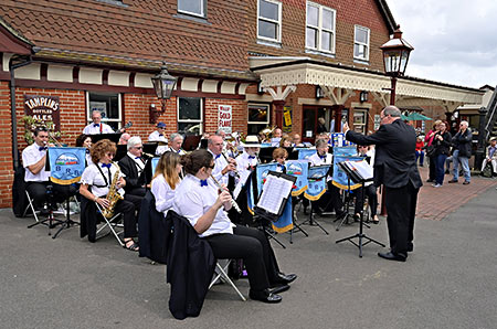 Bluebell Railway Band at Sheffield Park - Brian Lacey - 11 August 2019