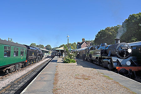Three locomotives at Horsted Keynes - Brian Lacey - 21 September 2019
