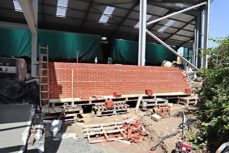 Shed wall adjacent to HSC - Barry Luck - 27 June 2019