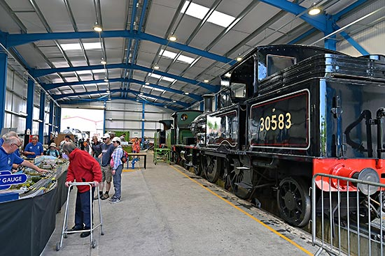 Inside the new Loco Maintenance shed - Brian Lacey - 30 June 2019