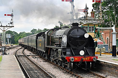 S15 arrives at Horsted Keynes - Brian Lacey - 13 July 2019