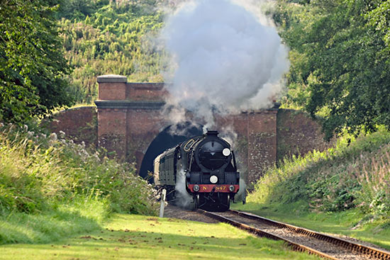 847 exits the tunnel - Brian Lacey - 24 August 2019