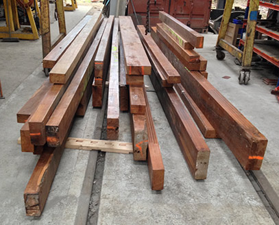 Teak delivered for Restaurant Car project - Richard Salmon - 6 March 2019