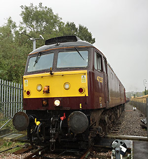 47237 arrives at East Grinstead with the railtour set - Roy Watts - 4 October 2019