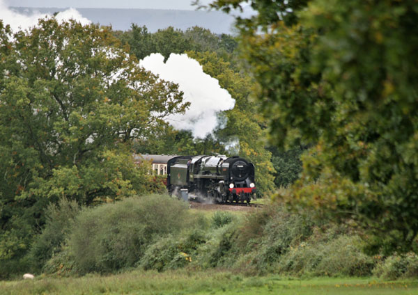 70000 Britannia to the North of Horsted Keynes - Julian Clark - 13 October 2019