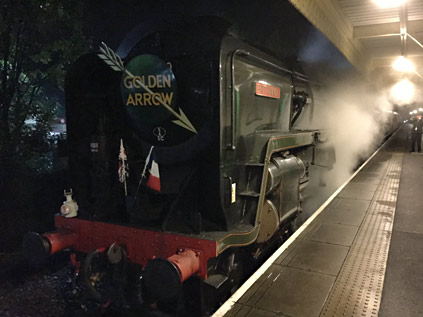 Britannia with the evening Golden Arrow at East Grinstead - Roy Watts - 14 October 2019