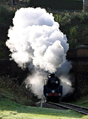 73082 blasts out of the tunnel - Brian Lacey - 3 November 2019